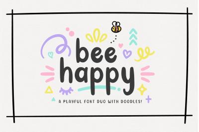 BeeHappy Font Duo