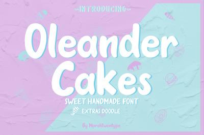 Oleander Cakes - Sweet Handmade Font