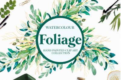 Foliage - Watercolour Greenery Leaves