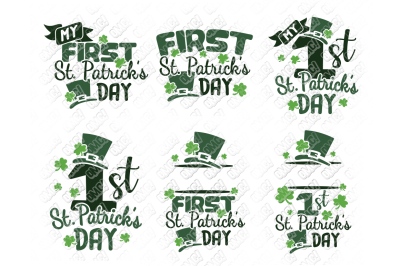 First St Patricks Day SVG in SVG, DXF, PNG, EPS, JPG