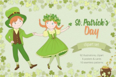 St. Patrick's Day Illustration Set
