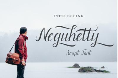 Neguhetty script font