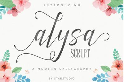 Alysa script font
