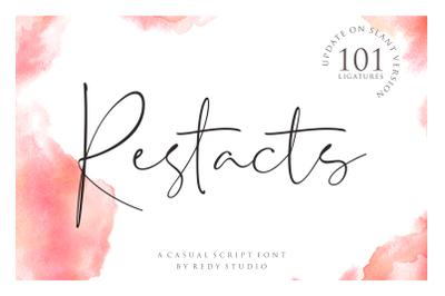 Restacts Script Font