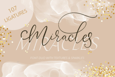 Miracles Duo Font + Extras