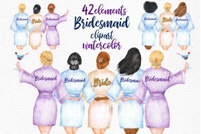 WEDDING ROBES CLIP ART Bridesmaid Clipart