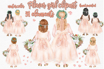 Flower girl clipart Wedding clipart