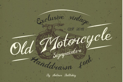 Old Motorcycle Handdrawn font