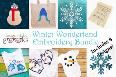 Winter Wonderland Bundle | Applique Embroidery