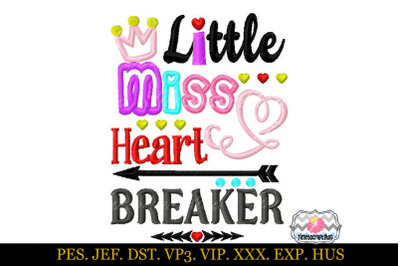 Download Little Miss Heart Breaker Applique Embroidery Design Free Free Download 277647 Logos Cutting Svg Files