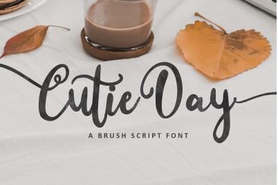 Cutie Day - Cute Script Font