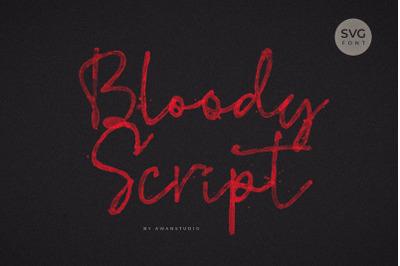 Bloddy Script SVG Font