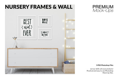 Kids Room Wall and Frames Set