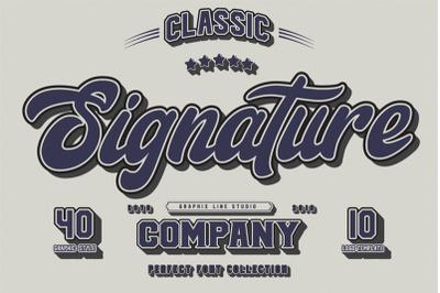 Signature Font Trio Script