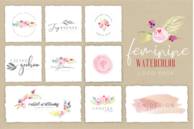 Femine Watercolor Logo Pack