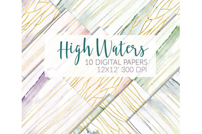 Watercolor papers Marble&Gold