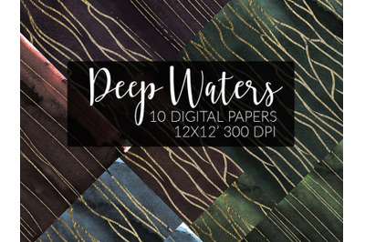 Watercolor papers Marble&Gold DARK