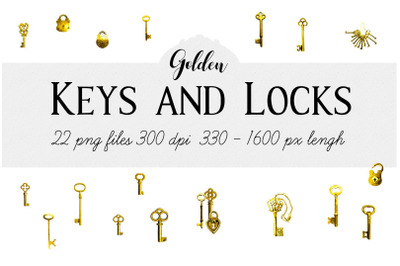 Keys and Padlocks (3 of 3, Golden)