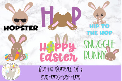 Bunny Bundle of 6 Easter SVGs