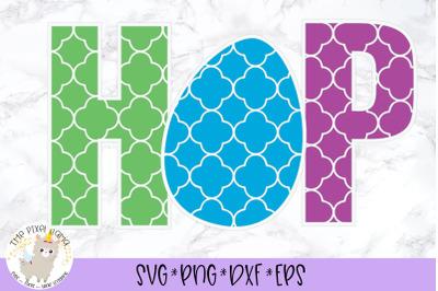 HOP Quatrefoil Pattern Easter SVG