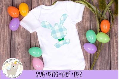 Plaid Easter Boy Bunny SVG