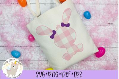 Plaid Easter Bunny Girl SVG