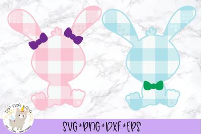 Plaid Bunny Bundle Easter SVG