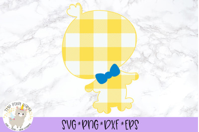 Plaid Easter Boy Chick SVG