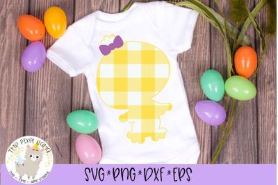 Plaid Easter Girl Chick SVG