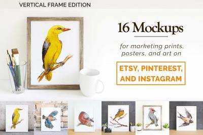 16 Etsy Friendly Print Mockups