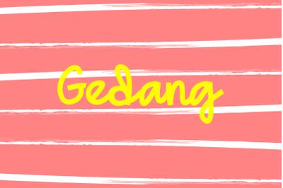 Gedang Playful Font
