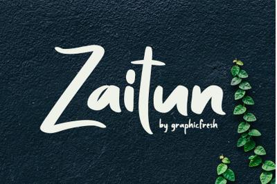 Zaitun | A Nature Branding Font