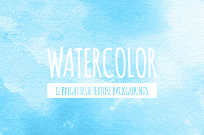Bright Blue Watercolor Texture Backgrounds