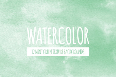 Mint Green Watercolor Texture Backgrounds
