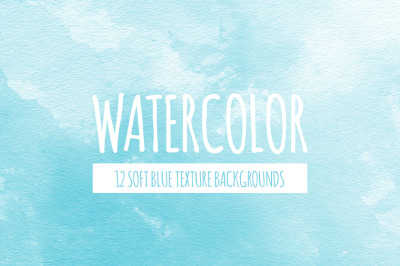 Soft Blue Watercolor Texture Backgrounds