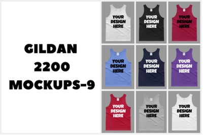 Gildan 2200 Adult Tank Top Mockups - 9 |PNG