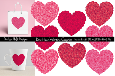 Rose Heart Valentine Graphics