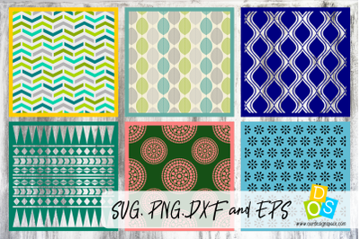 Layered Patterns & Stencils SVG, PNG, DXF and EPS file