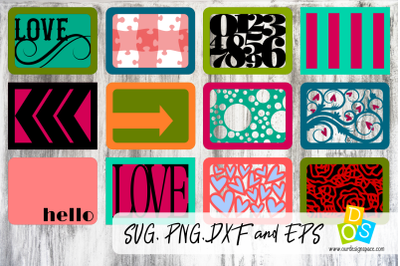 Decorative Embellishment Cards SVG, PNG, DXF and EPS Files