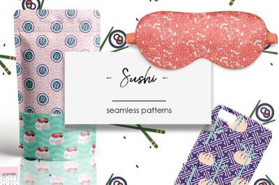 Sushi - Seamless Patterns