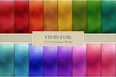 Vivid metallic foil textures
