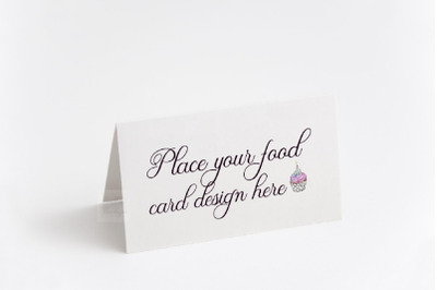 Table food guest tag  tent card template psd buffet mockup stationery