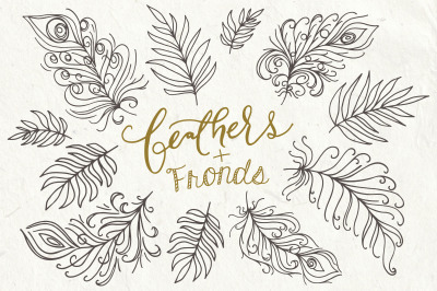 Feathers & Fronds Clip Art