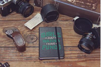 Pocket Notebook Black Mockup
