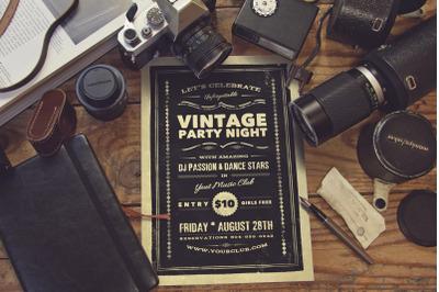 Vintage Photography Studio Scene