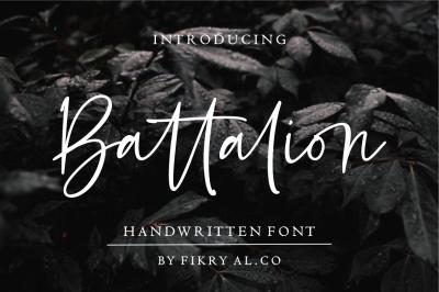 Battalion // handwritten font