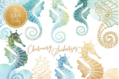 Seahorse Clipart Set