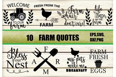 Farm quotes svg
