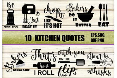 Kitchen quotes svg