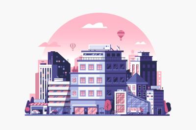 Modern City Metropolis Illustrations